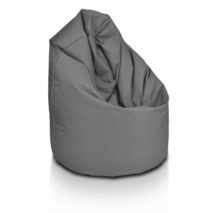 Sedací vak ECOPUF - GIGA SAKO - polyestér NC16 - Tmavo sivá