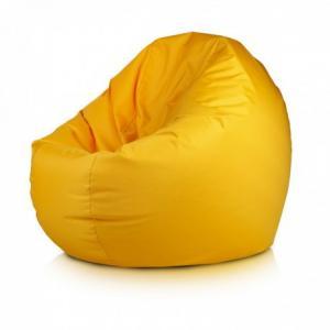 Sedací vak ECOPUF - ISLAND - polyestér NC4 - Žltá