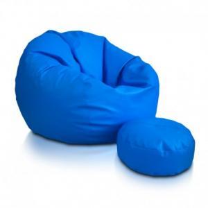 Ecopuf Sedací vak ECOPUF - SAKWA M - ekokoža E19 - Svetlo modrá