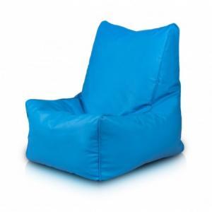 Ecopuf Sedací vak ECOPUF - SOLID - ekokoža E19 - Svetlo modrá