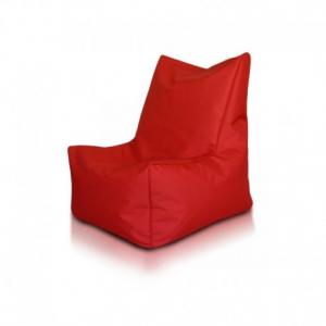 Ecopuf Sedací vak ECOPUF - SOLID - polyester NC12 - Červená