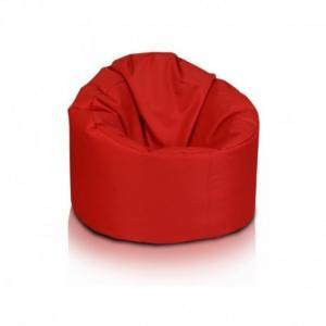 Ecopuf Sedací vak ECOPUF - STAR - polyester NC12 - Červená