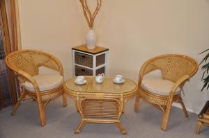 Sedacia súprava KINA malá oválny stolík - medová