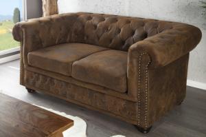 Sedačka CHESTERFIELD 2-sedačka vintage štý