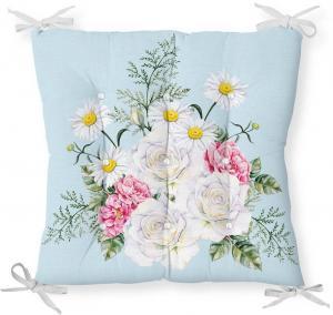 Sedák s prímesou bavlny Minimalist Cushion Covers Spring Flowers, 40 x 40 cm