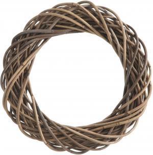 Šedo-prírodné ratanový veniec rúno - Ø 50*10cm