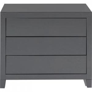 Šedý prádelník Luxury Push - 3 zásuvky