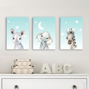 Séria 3 canvas obrazov 30x40 cm - Baby animals