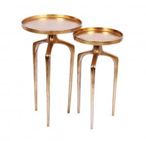 Set odkladacích stolíkov Pablo zlatý 2 ks