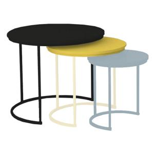 Set stolíkov - Tempo Kondela- Ronel (čierna + žltá + sivá) . Sme autorizovaný predajca Tempo-Kondela.