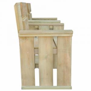 shumee 2-miestna záhradná lavička 150 cm, impregnovaná borovica