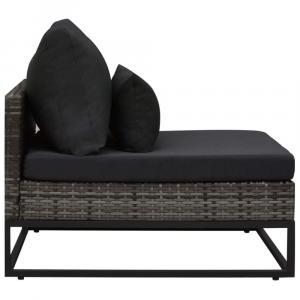 shumee 4-dielna záhradná sedacia súprava s podložkami sivá polyratanová