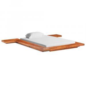 shumee Futónový posteľný rám japonský štýl akáciový masív 100x200 cm