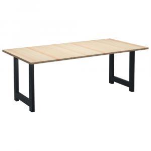 shumee Jedálenský stôl 220x100x76 cm borovicové drevo