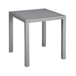 shumee Kubický stôl, hliníková doska 45x50x50 sivá