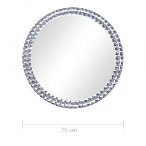 shumee Nástenné zrkadlo 70 cm tvrdené sklo