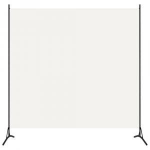 shumee Paraván s 1 panelom, krémovo biely 175x180 cm