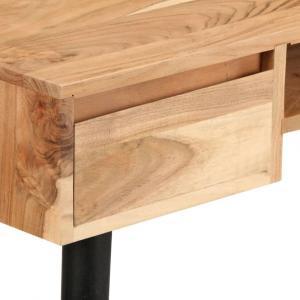 shumee Písací stôl, masívne akáciové drevo 118x45x76 cm
