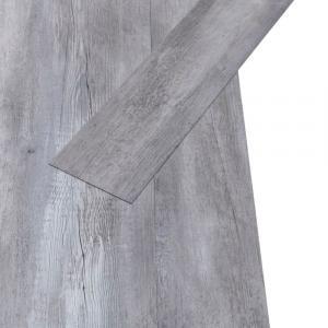 shumee Podlahové dosky z PVC 5,02m² 2mm, samolepiace, matné drevo,sivé