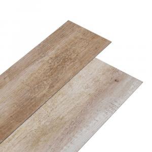 shumee Podlahové dosky z PVC 5,02m² 2mm, samolepiace, ošúchané drevo