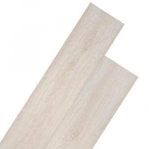 shumee Podlahové dosky z PVC 5,26 m², 2 mm, klasický biely dub