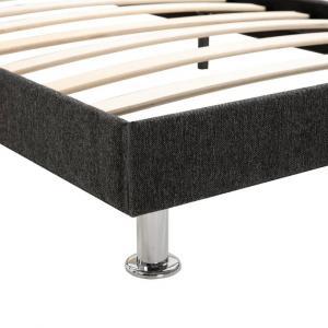 shumee Posteľ s matracom s pamäťovou penou tmavosivá 120x200 cm látková