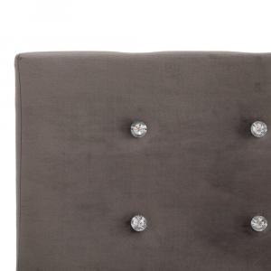 shumee Posteľ s matracom z pamäťovej peny sivá 120x200 cm zamatová