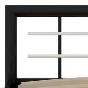 shumee Posteľný rám, čierno biely, kov 140x200 cm