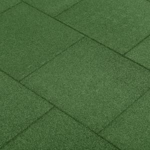 shumee Protipádové dlaždice 6 ks zelené 50x50x3 cm gumené