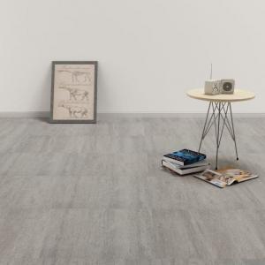 shumee Samolepiace podlahové dosky z PVC 5,11 m², sivé, tieňované