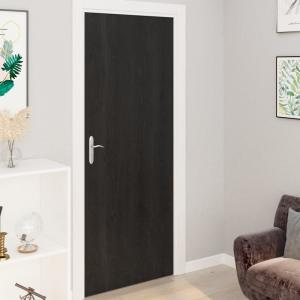 shumee Samolepiace tapety na dvere 4 ks, tmavé drevo 210x90 cm, PVC