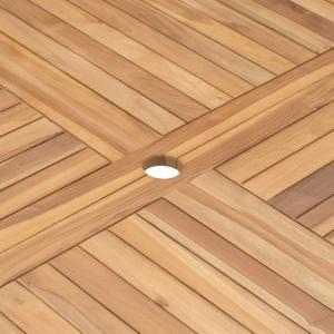 shumee Skladací záhradný stôl Ø 120 cm, tíkový masív