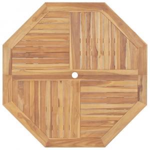 shumee Skladací záhradný stôl 120x120x75 cm, tíkový masív