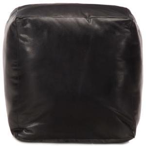 shumee Taburetka čierna 40x40x40 cm pravá kozia koža