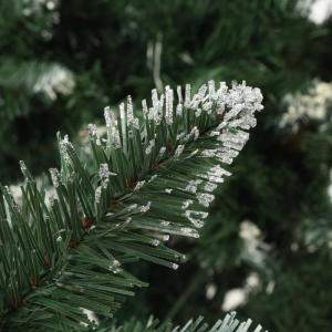shumee Umelý vianočný stromček s borovicovými šiškami biele vetvičky 210 cm