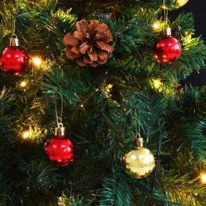 shumee Umelý vianočný stromček s ozdobami a LED diódami 180 cm zelený