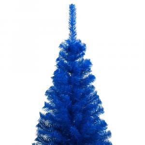 shumee Umelý vianočný stromček s podstavcom modrý 210 cm PVC