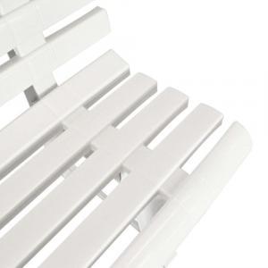 shumee Záhradná lavička 145,5 cm, plast, biela