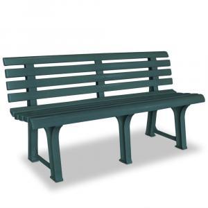 shumee Záhradná lavička 145,5 cm, plast, zelená