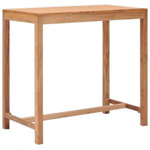 shumee Záhradný barový stôl 110x60x105 cm teakový masív