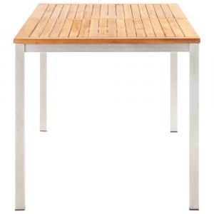 shumee Záhradný jedálenský stôl 160x80x75 cm, akáciový masív, oceľ