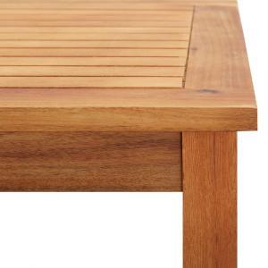 shumee Záhradný konferenčný stolík 60x60x36 cm masívne akáciové drevo