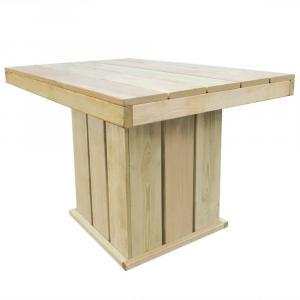 shumee Záhradný stôl 110x75x74 cm, impregnovaná borovica