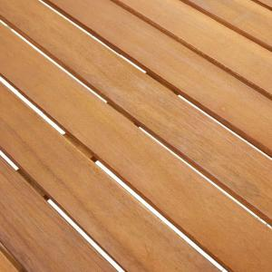 shumee Záhradný stôl 140x80x74 cm, akáciový masív