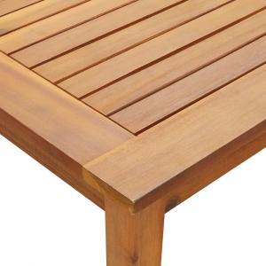 shumee Záhradný stôl 200x90x74 cm, akáciový masív