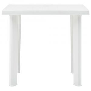 shumee Záhradný stôl, biely 80x75x72 cm, plast