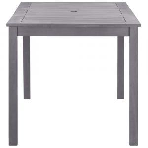 shumee Záhradný stôl, ošúchaná sivá 140x80x74 cm, akáciový masív