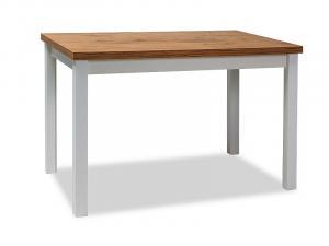 SIGNAL Adam jedálenský stôl dub lancelot / biela