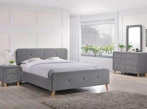 Signal Čalúnená manželská posteľ Malmo 140x200 Farba: Modrá