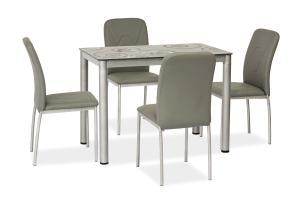 SIGNAL Damar jedálenský stôl sivá